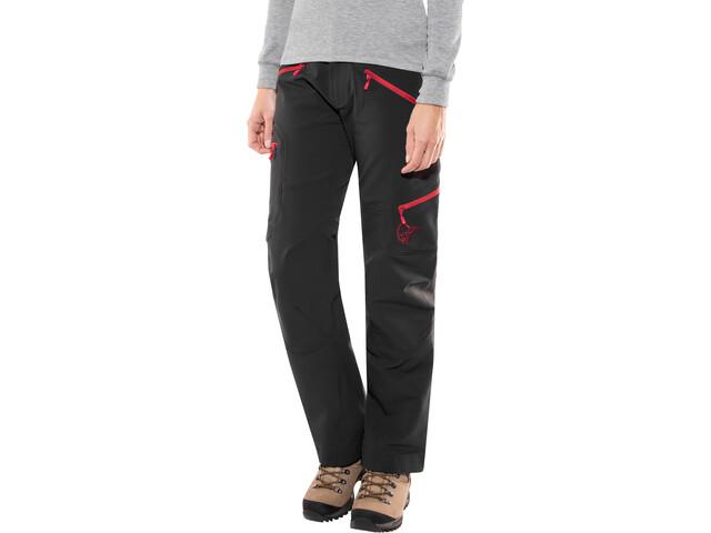 Norrøna Svalbard Flex1 Pantalon Femme, Caviar/Jester Red
